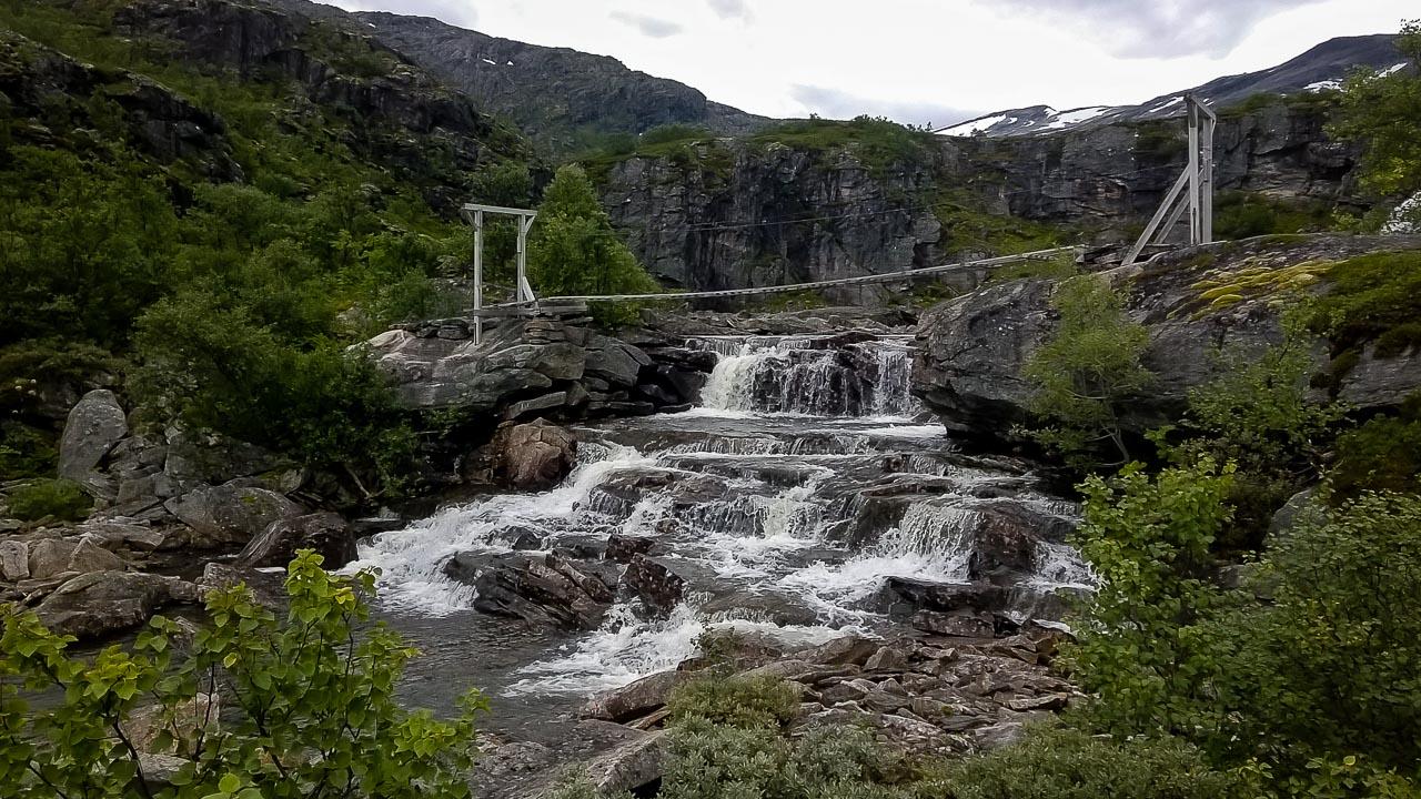 Bridge on the trail, Norway