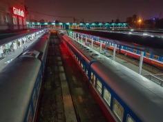 Ga Ha Noi czyli główny dworzec kolejowy Hanoi.