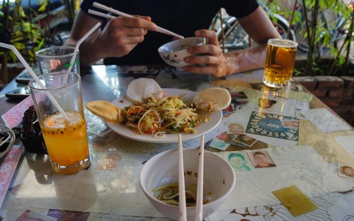 Sałatka z papai, Hoi An