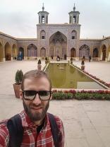 Dziedziniec różowego meczetu