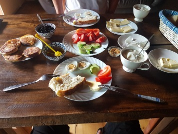 Mushkudiani Manor, Mestia - śniadanie mistrzów